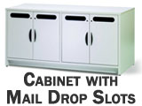 Hamilton Sorter Mail Cabinet with Mail Drop Slots in the doors