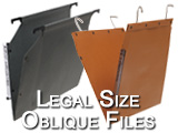 Legal Size Oblique File Pockets Hanging file folders Rod hanging and shelf support hung folders high quality with 5 and 10 year warranty parts include:LC, EXLG, ESL, ESUFLG, and LC90