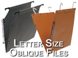 Letter size Oblique hanging file folders, we offer diffrent types of hanging: rod and shelf support. Parts included in this category are: F4, UFLT, F490, ESEXLT, and ESF