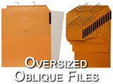 Over-sized size oblique hanging file pockets designed for large printed material like broadsheet, newspapers, large tabloid publications, Posters, Artwork, printing plates, large photographs. Magnifying lens on label makes finding fast, use color coded labels for better organization. Some of the parts in this category include: 17ENV, ART15, ART22, X3, X3SL, X4, X4L, LGE