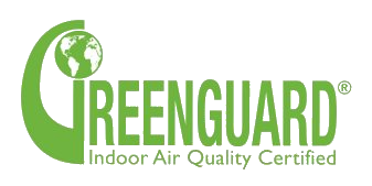 Green Guard Indoor Qir Quality Certified Logo Certifies that the material used is safe for use in schools and offices
