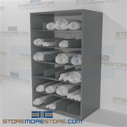organize rolled plan drawings racks construction