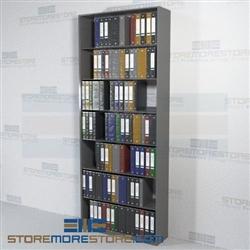 Binder Storing Shelves Adjustable Single Sided Office