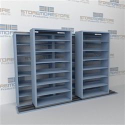 Rolling Legal Filing Shelves B232lg 4p7 Sliding Two Deep