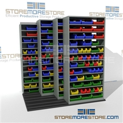 Parts Bins Industrial Track Shelving For Parts Storage