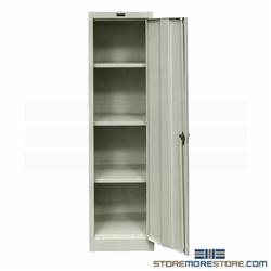 Slim Metal Storage Cabinet Tall Thin Locking Cabinet Solid
