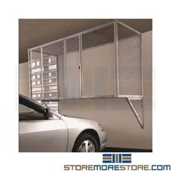 Wire Parking Garage Storage Cage Locker Wall Mounted Over