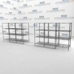 Accordion Rolling Wire Shelves | Gliding Modular Wire Shelving ...