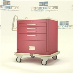 Rolling Emergency Room Code Blue Crash Drawer Cart