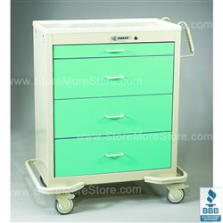 4 Drawer Wide Hospital Cart Two Tone Color Sms 50 Wkt