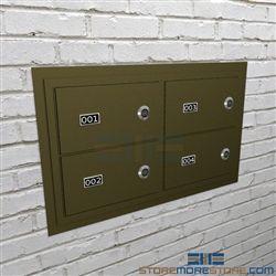 Flush Mount Handgun Locker Wall Mounted Pistol Cabinets