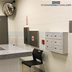 Small Arm Wall Lockers Police Office Pistol Storage