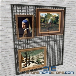 Gallery Wire Mesh Wall Display Panel Museum Hanging