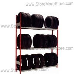 tire storage racks srp0441  sc 1 st  StoreMoreStore & Tire Storage Racks SRP0441 | Single-Sided Tire Wall Storage Shelving ...