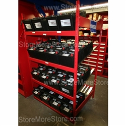 Heavy Duty Battery Organizer Rack Storing Car Batteries
