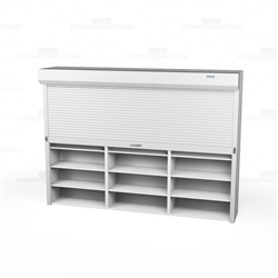 Roll Up Motorized Shelving Doors Security Doors For Wood