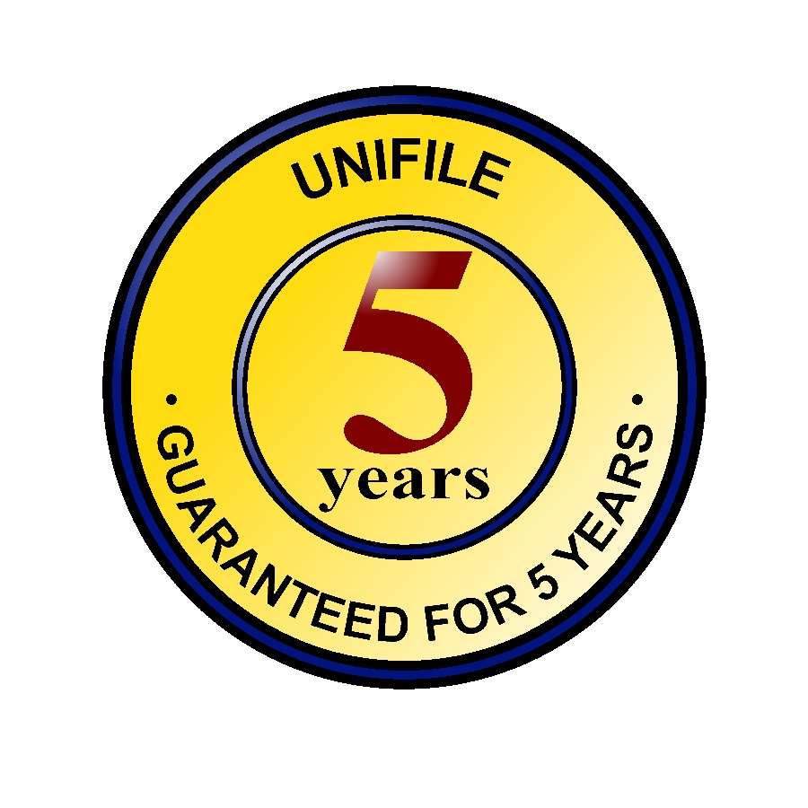 5 Year Guarentee on all unifile compartments UFLT30GY