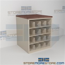 Rolled Blueprint Storage Rack Counter Cabinet Pigeon Hole