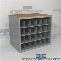 Work Counter With Blueprint Storage Cubbies Rolled