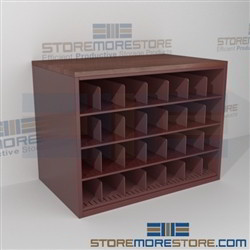 Rolled Architectural Drawing Storage Counter Cabinet With Work Top Surface Rolled