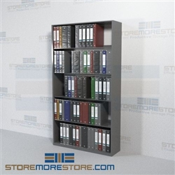 Open Rack Shelving Notebook Storage Metal Wall Unit 5
