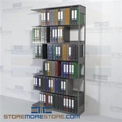Medical Office Shelving Open Storage Binder Racks 6 Openings Wall Unit Four Post Shelving 4
