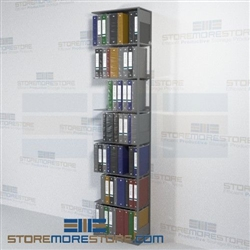 Metal Shelving Medical Chart Binder Open File Shelf 24