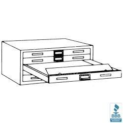 Large Flat Five Drawer Cabinet D Holds 50x39 Map Plans Blueprints Mayline 7869d