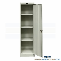 Slim Metal Storage Cabinet Tall Thin Locking Cabinet Solid