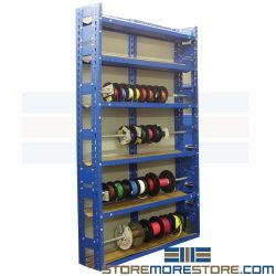 Rolling Tire Storage Rack >> Wire Reel Storage Rack Cable Spool Organizer Shelves ...