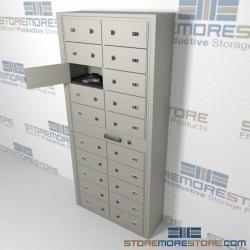Multi Door Pistol Lockers Police Handgun Storage Cabinet