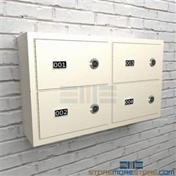Ammo Wall Lockers Police Station Sidearm Storage Small