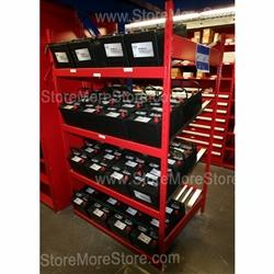 Heavy Duty Battery Organizer Rack Storing Car Batteries