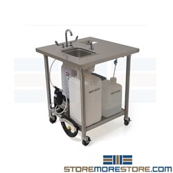 Stainless Portable Outdoor Sink | Stand Alone Compact Sink ... on Outdoor Sink With Stand id=38632