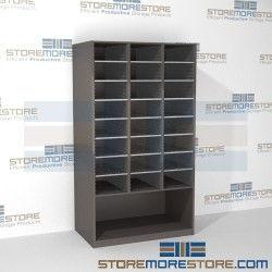 Freestanding Mail Sorter With Bottom Storage Area Hamilton